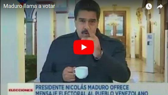 Maduro aparece a las 6 de la mañana en mensaje grabado y falso