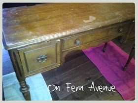 vanity that needs to be refinished