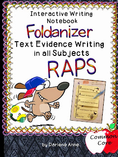 RAPS Text Evidence Writing in all Subjects