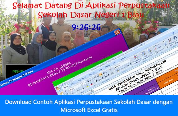 Download Contoh Aplikasi Perpustakaan Sekolah Dasar dengan Microsoft Excel Gratis