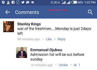 REPLY: Unizik Set Date To Release Admission List
