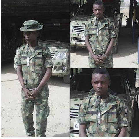 Photos: Fake soldier selling stolen phone in Bauchi apprehended