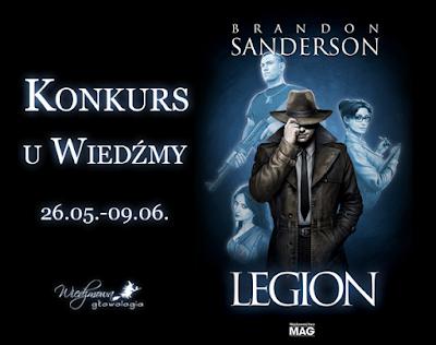Wiedźmowa głowologia, konkurs książkowy, Legion, Brandon Sanderson, fantastyka