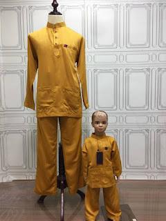baju melayu raya bapa anak 2018