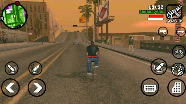 "ScreenShot On ""GTA San Andreas APK With DATA Download"""
