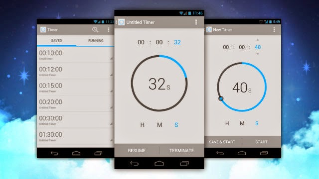 Android segment: android timer example.