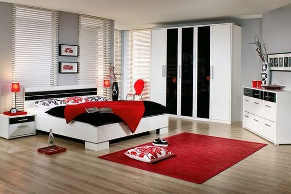 How to use red color in the bedroom