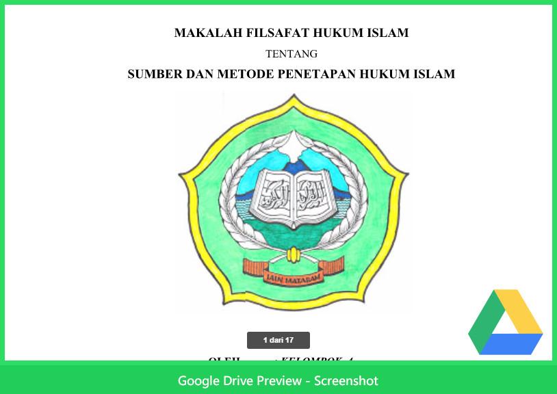 Contoh Makalah Agama Tentang Filsafat Hukum Islam