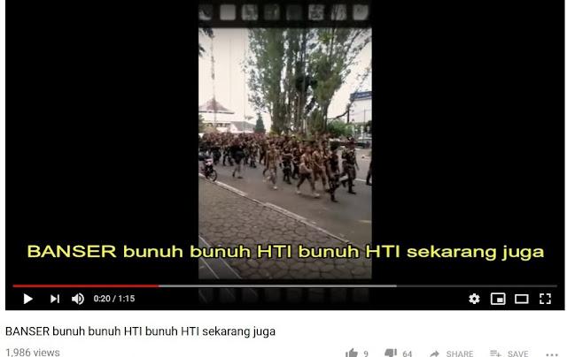 Beredar Video, Anggota Banser Serukan Bunuh HTI