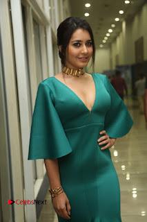 Actress Raashi Khanna Pictures in Green Long Dress at Hyper Trailer Launch  0131.JPG