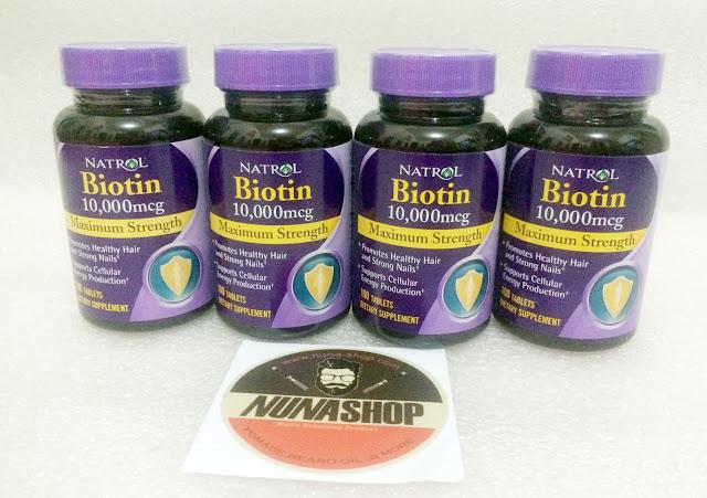 Natrol Biotin 10,000 mcg 100 tablet dari USA Memulihkan Kesehatan Rambut , Kuku dan Produksi Energy