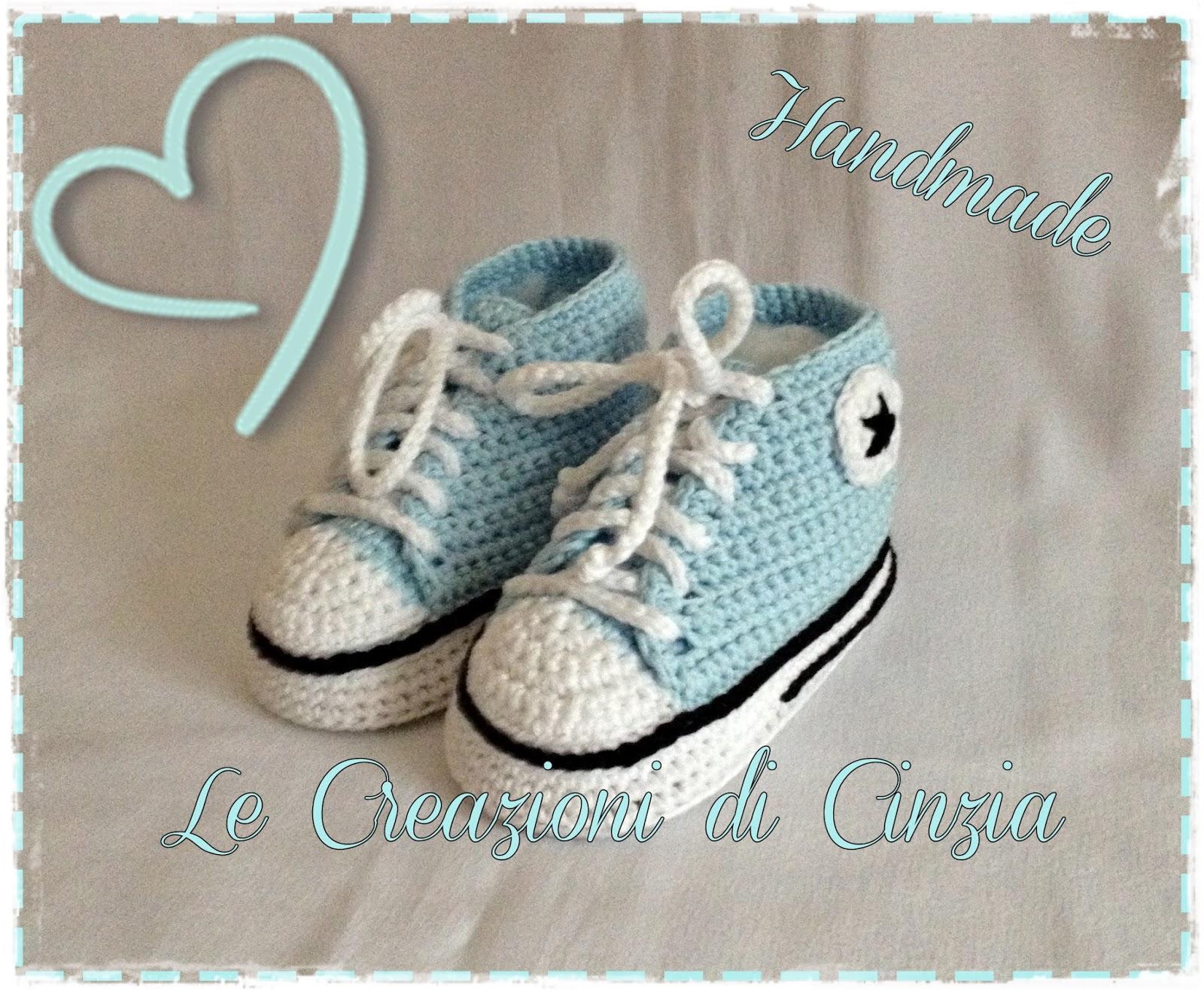 Le Creazioni Di Cinzia Converse E Adidas Scarpine Baby Ad Uncinetto