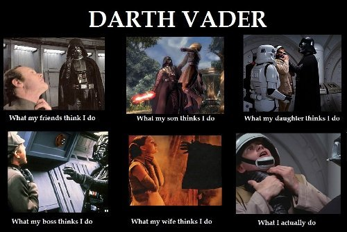 Darth Vader What My Friends Think I Do