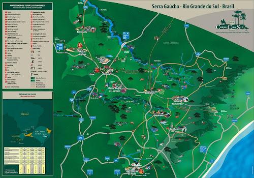 Mapa dos Campos de Cima da Serra