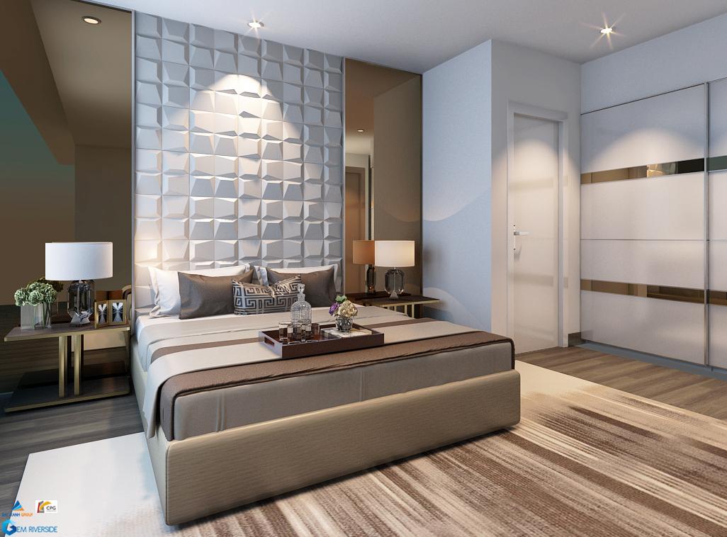 Gợi ý thiết kế phòng ngủ master Gem Riverside căn 76m2