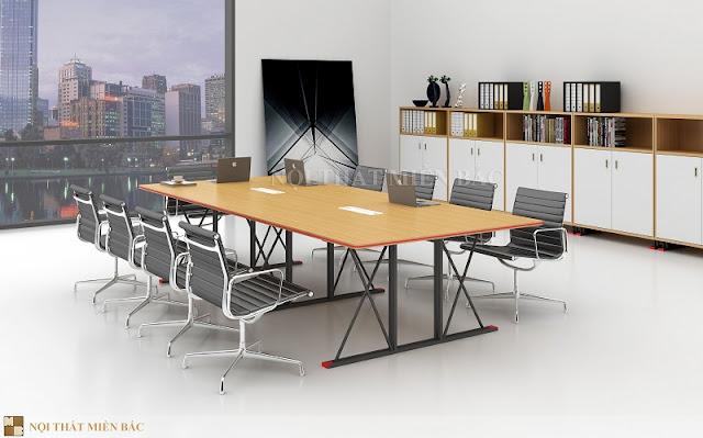 Bàn họp nhập khẩu này với thiết kế vô cùng đơn giản đảm bảo cho không gian sự chuyên nghiệp