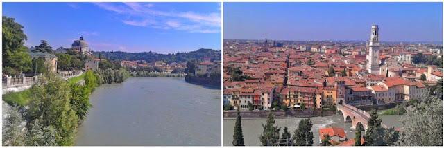 Rio de Verona y vistas de la ciudad