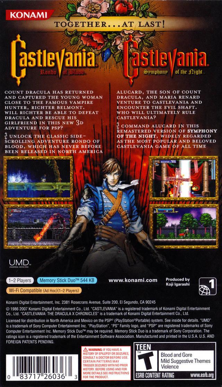 castlevania dracula x chronicles psp rom español