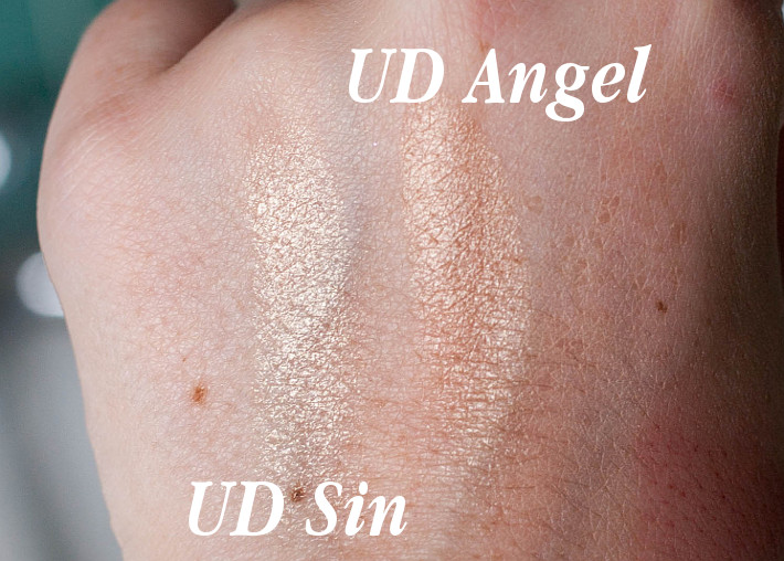 Beauty: Urban Decay afterglow highlighter in Sin swatches
