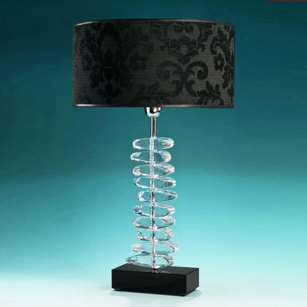 tischleuchten aus glas und kristall edle tischleuchte aus glas stones. Black Bedroom Furniture Sets. Home Design Ideas