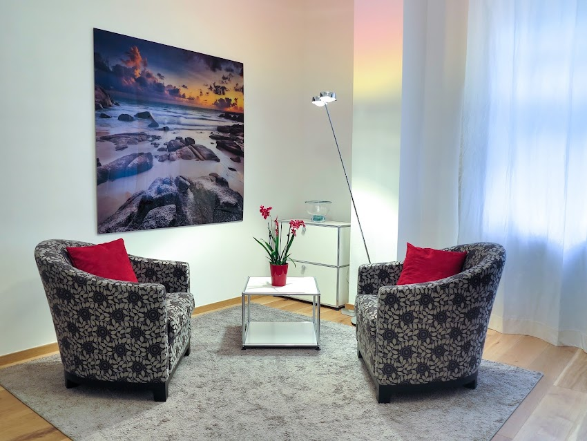 Apartment Chairs Comfort With Red Flowers