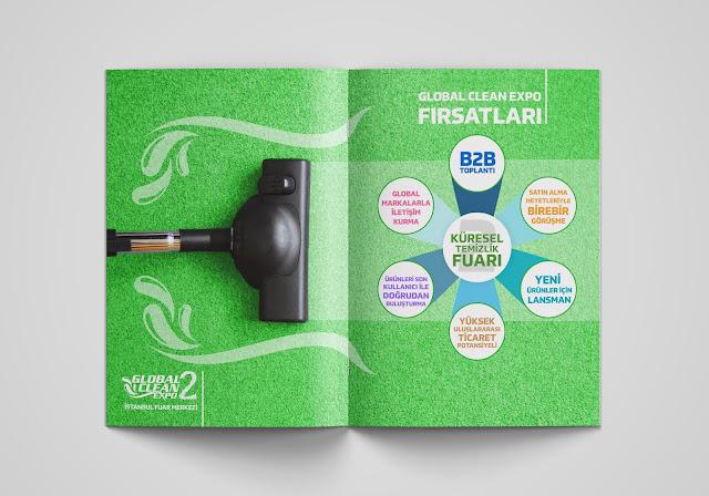 Temizlik Ürün Fuarı Tanıtım Kataloğu Tasarımı