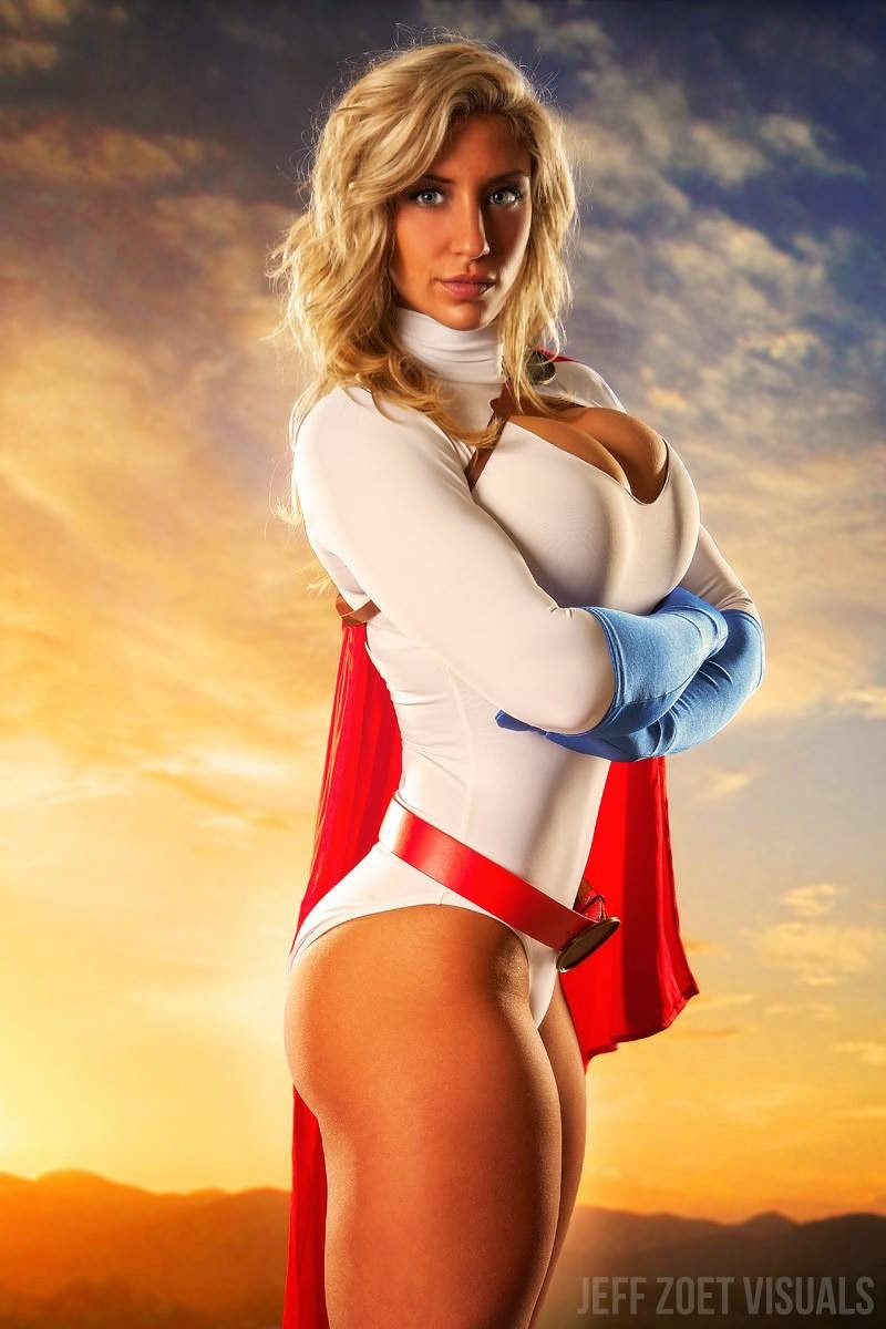Fitness Model Alyssa Loughran as Power Girl