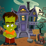 Games4King Cute Green Zombie Rescue