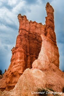 Cramer Imaging's professional quality nature photograph of a tall red rock formation in Bryce Canyon National Park, Utah