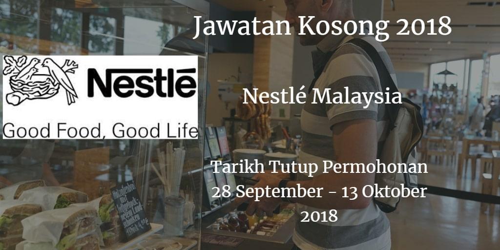 Jawatan Kosong Nestlé Malaysia 28 September- 13 Oktober 2018