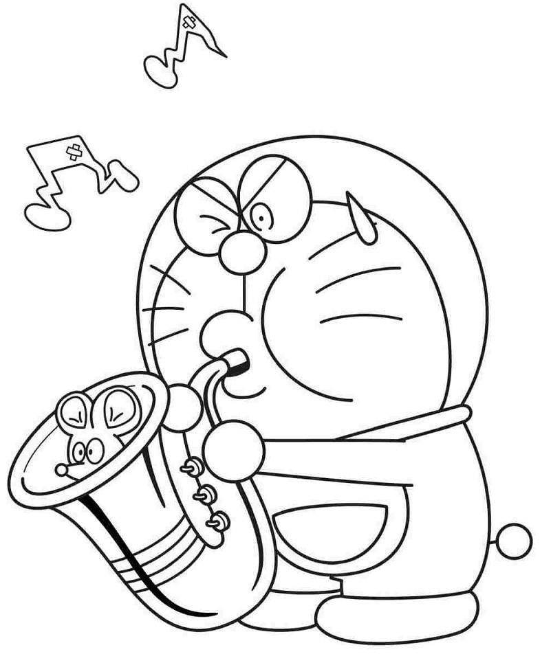 Kumpulan Gambar Mewarnai Kartun Doraemon Terbaru Gambarcoloring
