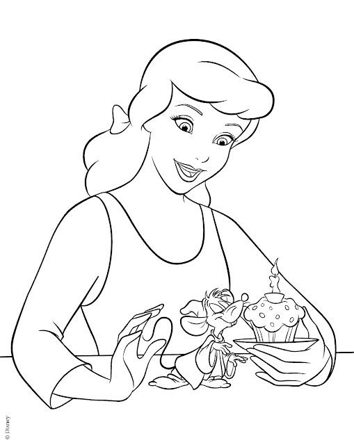 tranh tô màu công chúa Disney 8