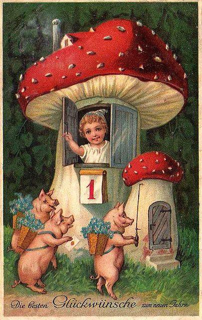 Cartes postales anciennes Bonne Année