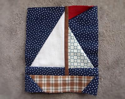 New Patterns Anchor Sailboat Protoquilt