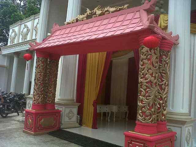 Dekorasi gate imlek gong xi fat choi tema imperial