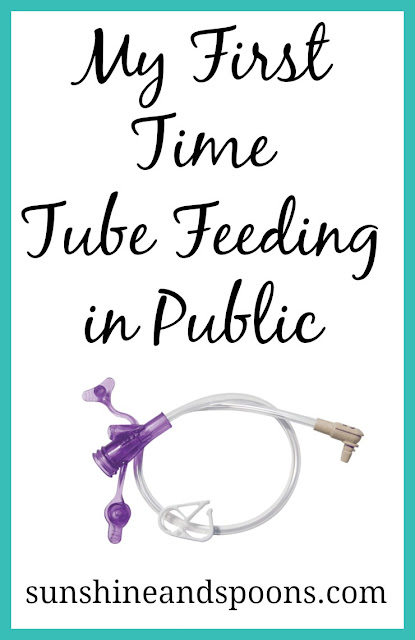 My First Time Tube Feeding in Public