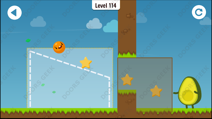 Where's My Avocado? Level 114 Solution, Cheats, Walkthrough, 3 Stars for Android, iPhone, iPad and iPod