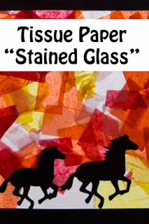"""Stained Glass"" Horses"
