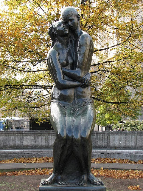 The Young Lovers by Georg Ehrlich, Festival Gardens, City of London, London