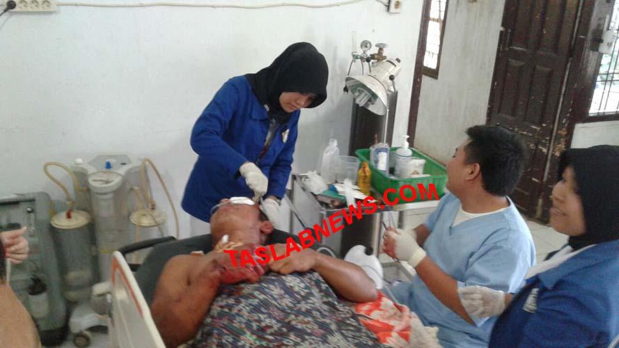 Korban pembacokan saat dirawat di RSU