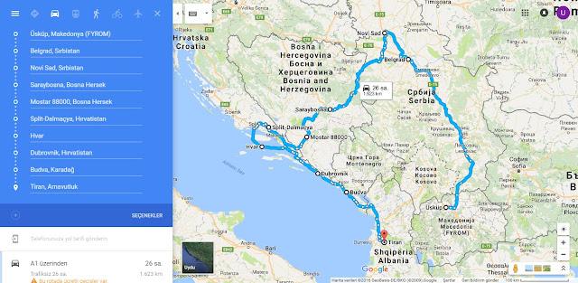 balkanlar yol haritası