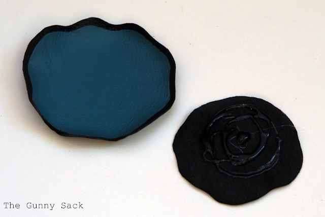 Painted Leather Flower Headband Tutorial The Gunny Sack