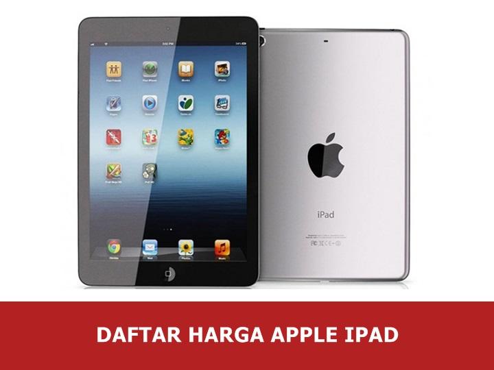 Daftar Harga Apple Ipad