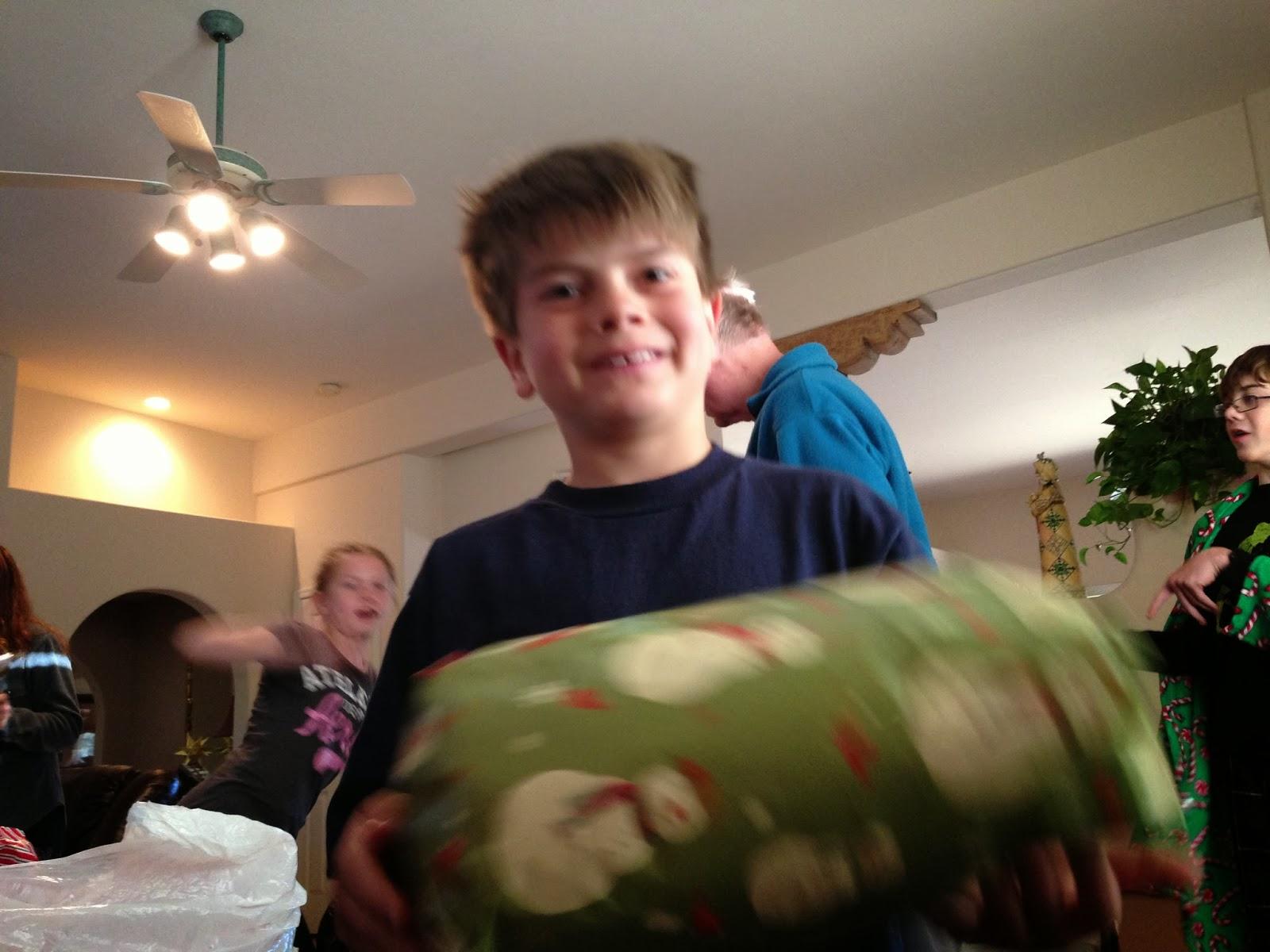 boy smiling, christmas