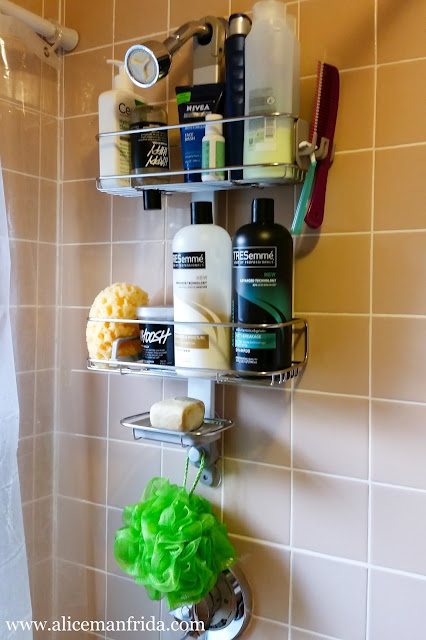The Container Store, bathroom, organization, shower, storage