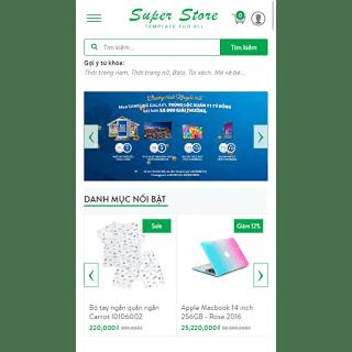 thiết kế template bán hàng đẹp