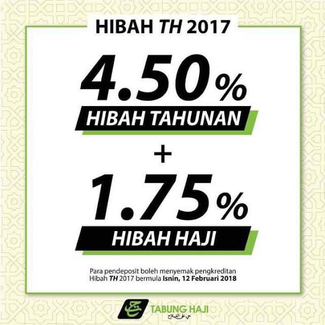 Agihan Hibah Tabung Haji 2017, tabung haji umum hibah  tabung haji umum bonus