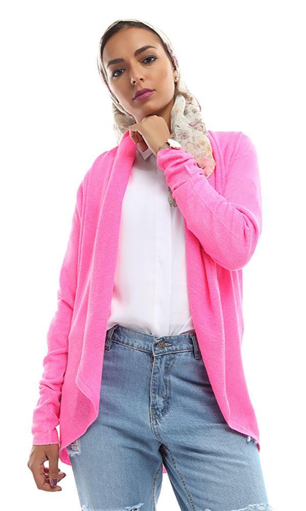 Slip On Cardigan - Neon Pink
