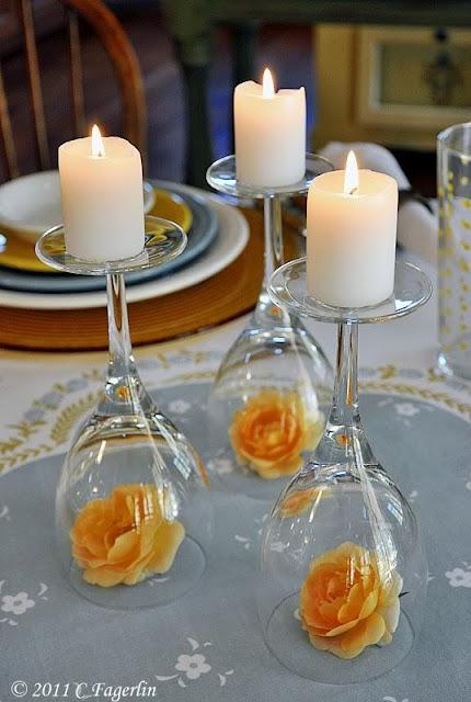decoração casamento velas