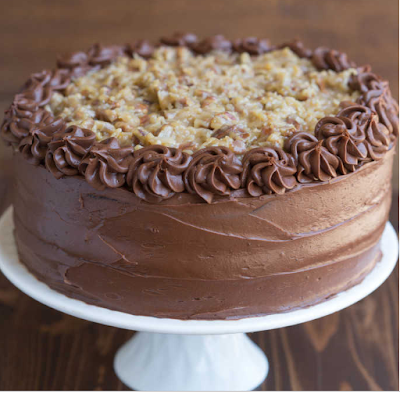 German Chocolate Cake #cakechoco